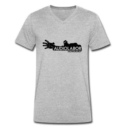 Audiolabor Techno Robot Mens Hoodie - Men's Organic V-Neck T-Shirt by Stanley & Stella