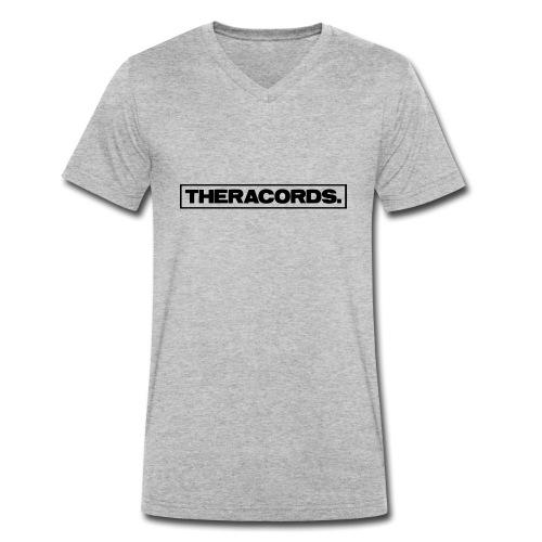 Theracords_logo_black_TP - Mannen bio T-shirt met V-hals van Stanley & Stella