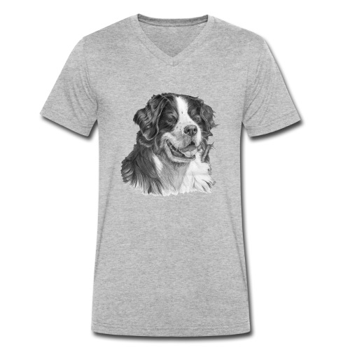Bernese mountain dog - Økologisk Stanley & Stella T-shirt med V-udskæring til herrer