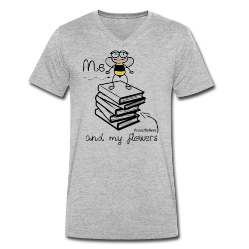 Bees1 - Me and my flowers | save the bees - Men's Organic V-Neck T-Shirt by Stanley & Stella