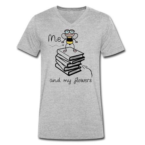 Bees1-2 Ich und meine Blumen | save the bees - Men's Organic V-Neck T-Shirt by Stanley & Stella