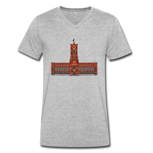 Rotes Rathaus BERLIN - Männer Bio-T-Shirt mit V-Ausschnitt von Stanley & Stella