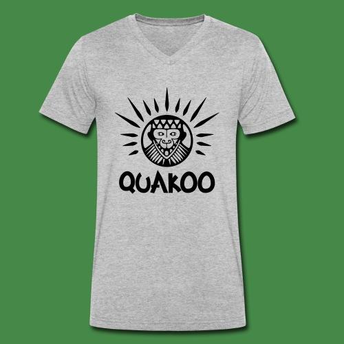 Quakoo Logo - Männer Bio-T-Shirt mit V-Ausschnitt von Stanley & Stella