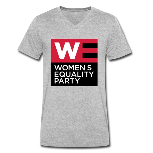 WE_LOGO_RED_CMYK - Men's Organic V-Neck T-Shirt by Stanley & Stella
