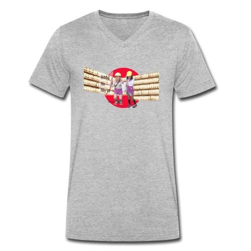 Tokyo Need No Ninja 2 - T-shirt ecologica da uomo con scollo a V di Stanley & Stella