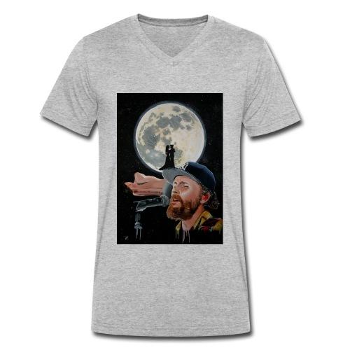 Chiaro di Luna - T-shirt ecologica da uomo con scollo a V di Stanley & Stella