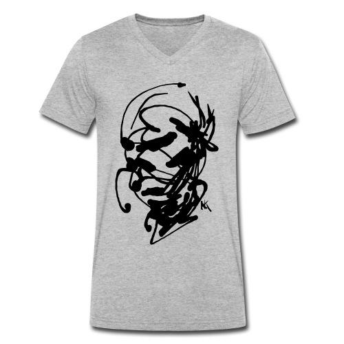 face - Men's Organic V-Neck T-Shirt by Stanley & Stella