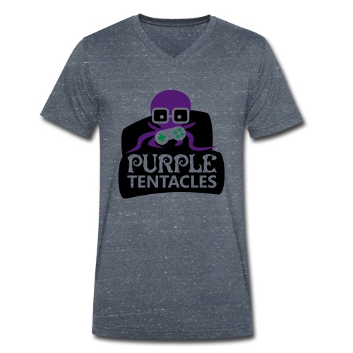 Purple Tentacles Shirt - Männer Bio-T-Shirt mit V-Ausschnitt von Stanley & Stella