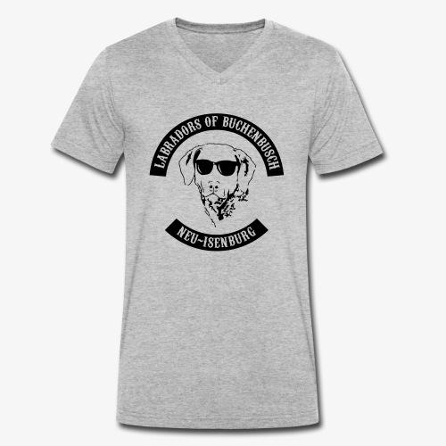 lab_logo_black - Männer Bio-T-Shirt mit V-Ausschnitt von Stanley & Stella