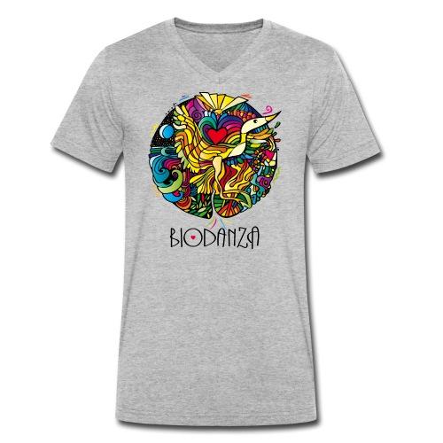 Mosaik Kranich Mandala - Männer Bio-T-Shirt mit V-Ausschnitt von Stanley & Stella