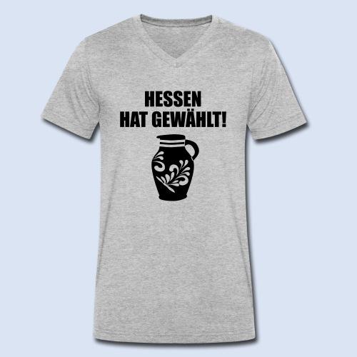Hessenwahl Bembel - Männer Bio-T-Shirt mit V-Ausschnitt von Stanley & Stella