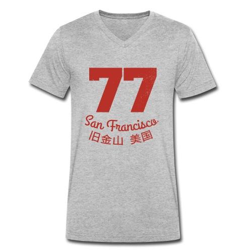 77 san francisco usa - Männer Bio-T-Shirt mit V-Ausschnitt von Stanley & Stella