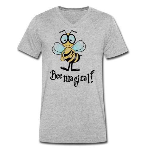 Bees10-2 Bienen sind magisch | save the bees - Men's Organic V-Neck T-Shirt by Stanley & Stella
