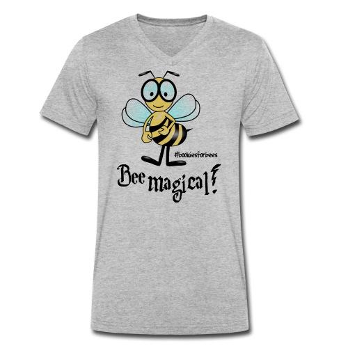 Bees10-1 Bienen sind magisch | save the bees - Men's Organic V-Neck T-Shirt by Stanley & Stella