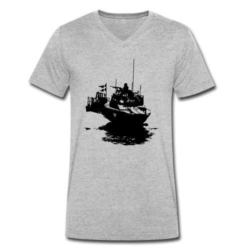 Combat Boat 90 - Stridsbåt 90 - Ekologisk T-shirt med V-ringning herr från Stanley & Stella