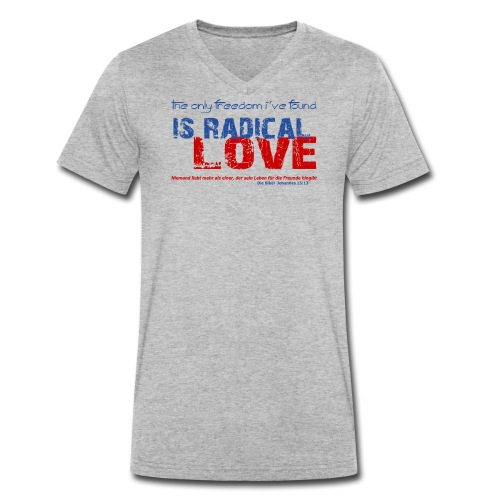 Radikale Liebe blue - Männer Bio-T-Shirt mit V-Ausschnitt von Stanley & Stella