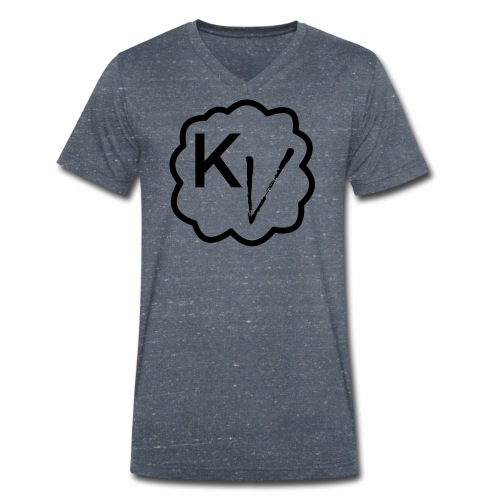 King Vape Icon - Men's Organic V-Neck T-Shirt by Stanley & Stella