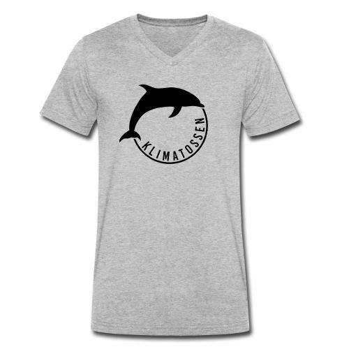Klimatossen sort logo - Økologisk Stanley & Stella T-shirt med V-udskæring til herrer