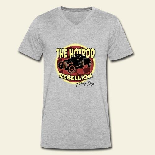 hotrod rebellion - Økologisk Stanley & Stella T-shirt med V-udskæring til herrer