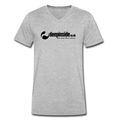 DEEPINSIDE World Reference logo black - Men's Organic V-Neck T-Shirt by Stanley & Stella