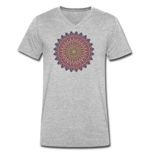 Mandala Sonnenuntergang - Männer Bio-T-Shirt mit V-Ausschnitt von Stanley & Stella