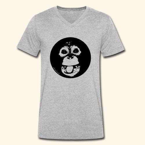 Lustiger Orang - Männer Bio-T-Shirt mit V-Ausschnitt von Stanley & Stella
