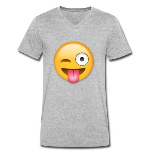 Winking Face - Männer Bio-T-Shirt mit V-Ausschnitt von Stanley & Stella