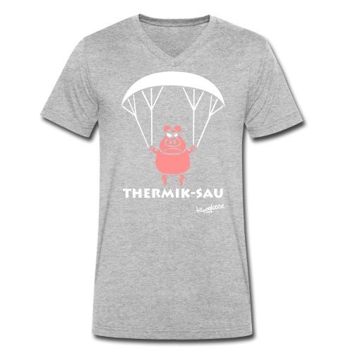 ThermikSau_braun - Männer Bio-T-Shirt mit V-Ausschnitt von Stanley & Stella