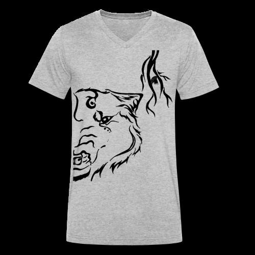 Black Wolf Thunder - Männer Bio-T-Shirt mit V-Ausschnitt von Stanley & Stella