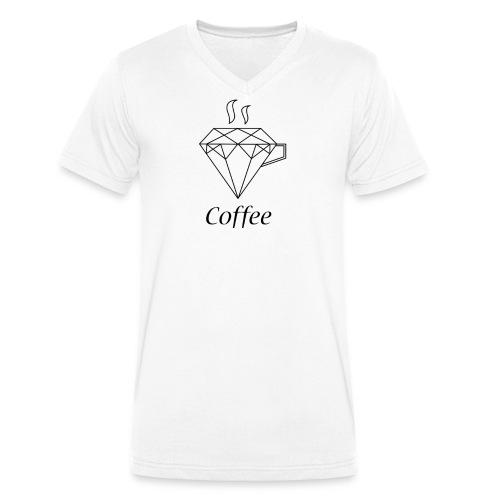 Coffee Diamant - Männer Bio-T-Shirt mit V-Ausschnitt von Stanley & Stella