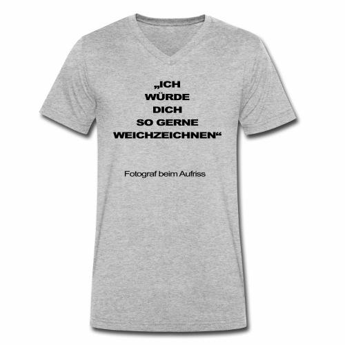 fotograf beim aufriss - Männer Bio-T-Shirt mit V-Ausschnitt von Stanley & Stella