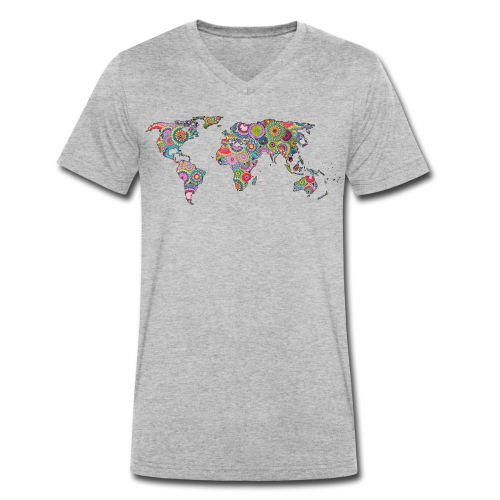 Hipsters' world - Men's Organic V-Neck T-Shirt by Stanley & Stella