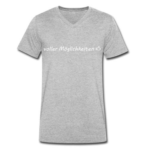 Moeglichkeiten, weiß - Männer Bio-T-Shirt mit V-Ausschnitt von Stanley & Stella