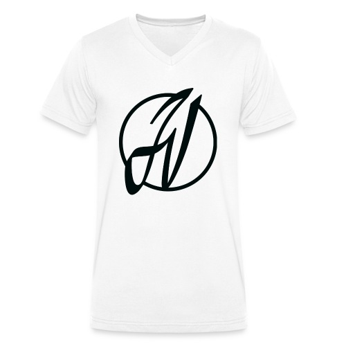 JV Guitars - logo noir - T-shirt bio col V Stanley & Stella Homme