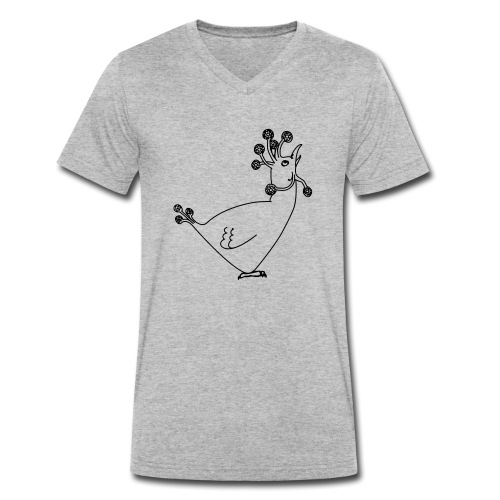 Cosmic Chicken - Men's Organic V-Neck T-Shirt by Stanley & Stella