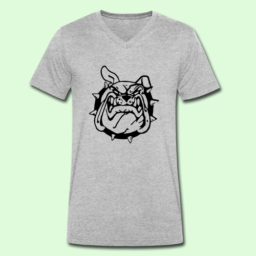 Bulldog souriant - T-shirt bio col V Stanley & Stella Homme