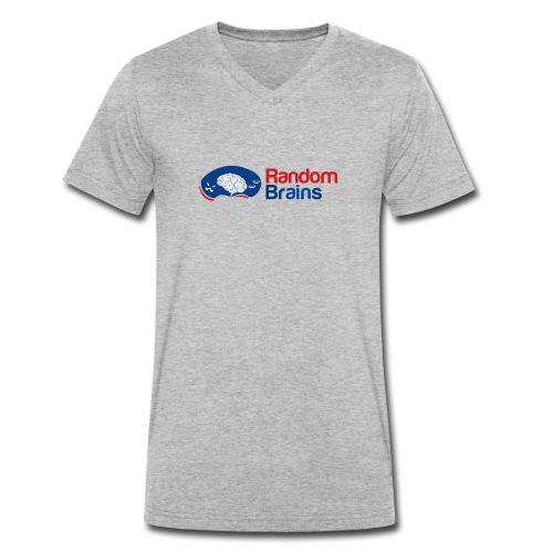 RandomBrains - Camiseta ecológica hombre con cuello de pico de Stanley & Stella