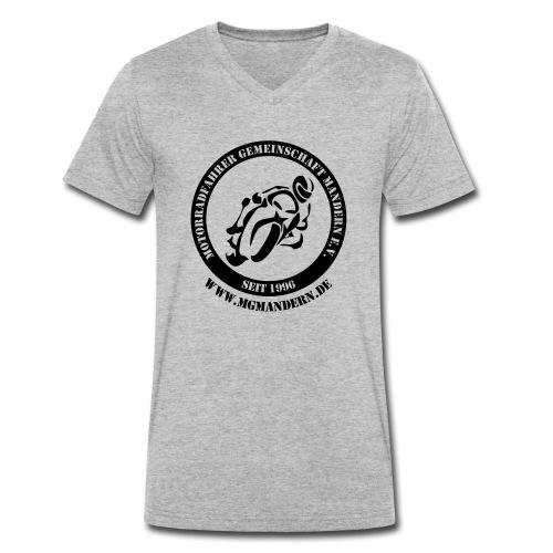 Logo Hinten mit WWW - Männer Bio-T-Shirt mit V-Ausschnitt von Stanley & Stella