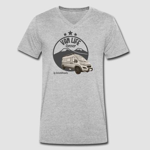 Vanlife forever retro - Männer Bio-T-Shirt mit V-Ausschnitt von Stanley & Stella