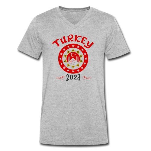 Tuerkei 2023 cp - Männer Bio-T-Shirt mit V-Ausschnitt von Stanley & Stella