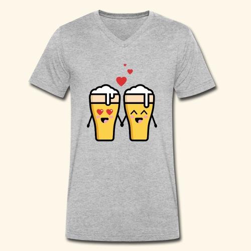 Beer love kawaii - T-shirt bio col V Stanley & Stella Homme
