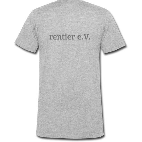 schriftrentier - Männer Bio-T-Shirt mit V-Ausschnitt von Stanley & Stella