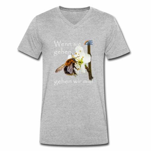 Parteishirt Biene - Männer Bio-T-Shirt mit V-Ausschnitt von Stanley & Stella