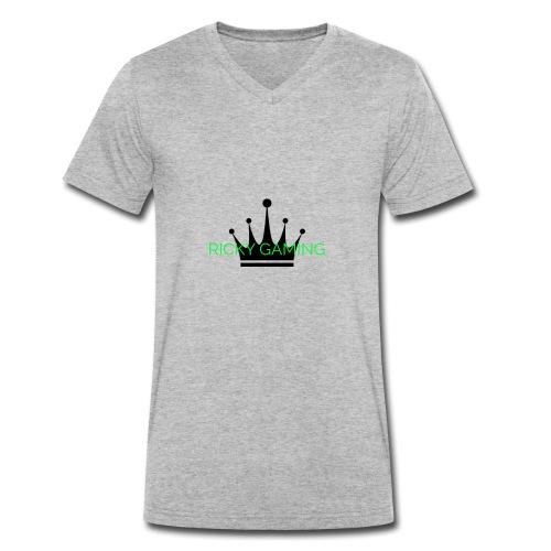 RICKY THE KING - Men's Organic V-Neck T-Shirt by Stanley & Stella