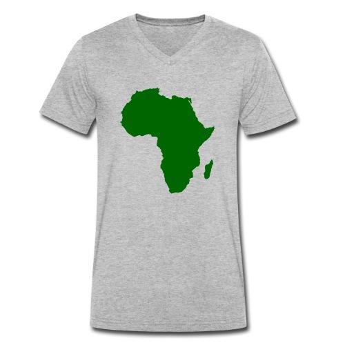 African styles green - Men's Organic V-Neck T-Shirt by Stanley & Stella