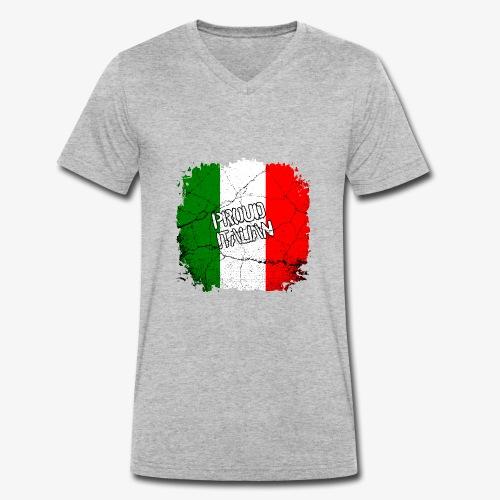 Proud Italian Stolzer Italiener Italienerin - Männer Bio-T-Shirt mit V-Ausschnitt von Stanley & Stella
