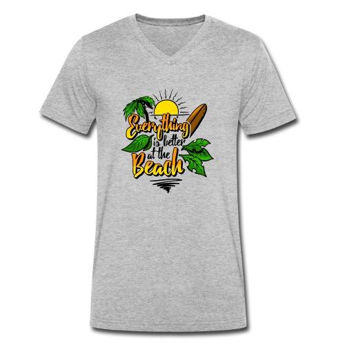 Beach-colour - Männer Bio-T-Shirt mit V-Ausschnitt von Stanley & Stella