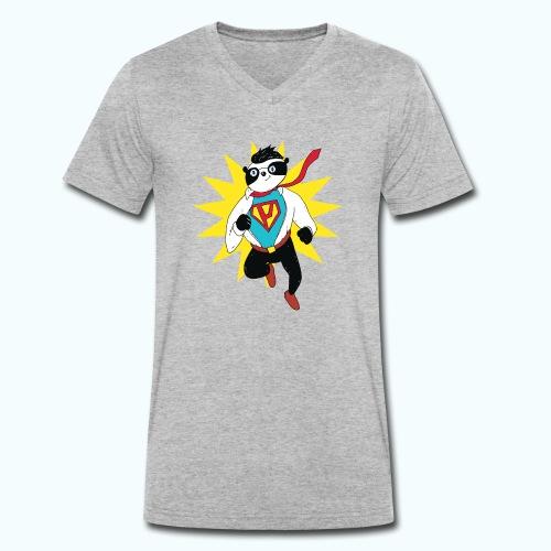 Retro vintage panda - Men's Organic V-Neck T-Shirt by Stanley & Stella