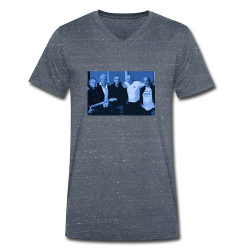 band in blue png - Men's Organic V-Neck T-Shirt by Stanley & Stella