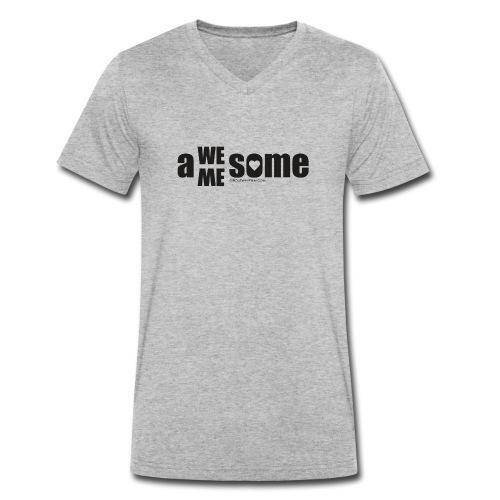awesome we+me shirt – schwarz - Männer Bio-T-Shirt mit V-Ausschnitt von Stanley & Stella